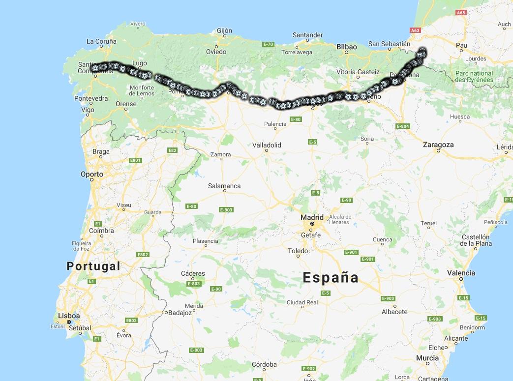 Camino De Santiago Mapa Etapas.Etapas Camino Frances